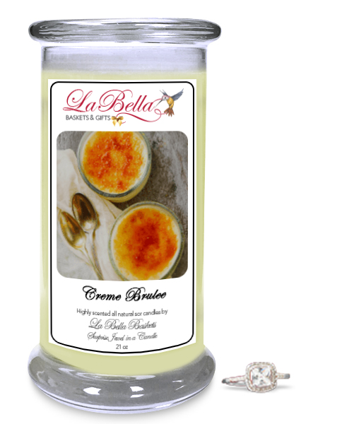 Creme Brulee Candle with Jewel